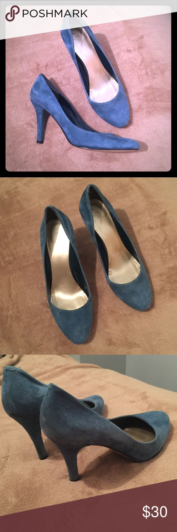 Nine West Blue Suede shoes Blue suede pumps. Good condition. Nine West Shoes Heels