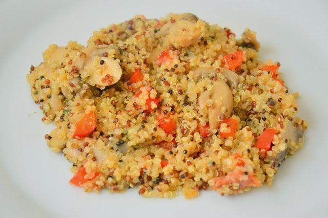 Quinoa and Mushroom Pilaf