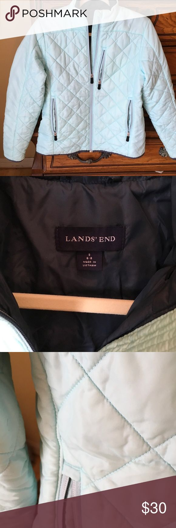 Lans's End baby-blue puffer jacket Small Lands' End Jackets & Coats Puffers