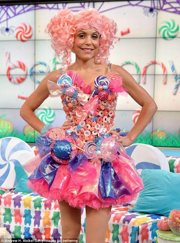 Bethenny Frankel dresses up in a candy dress