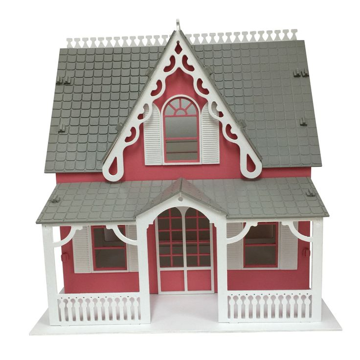 Anne Shirley wooden dollhouse kit. ASSEMBLED AND PAINTED!! by Birdswoodshack on Etsy https://www.etsy.com/listing/196306899/anne-shirley-wooden-dollhouse-kit