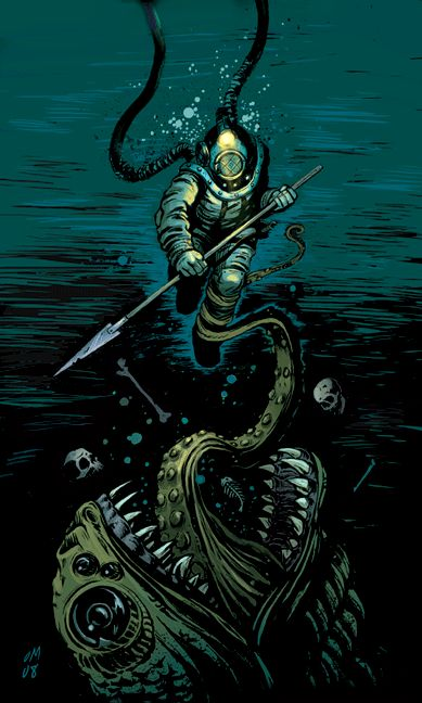deep sea diver monster - Google Search