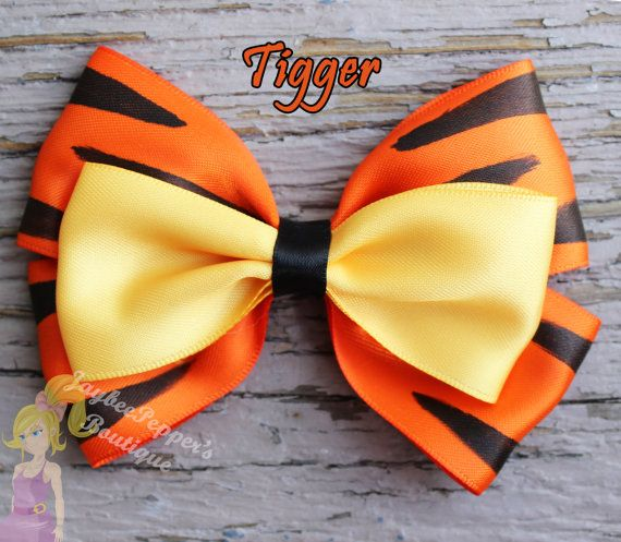 Tigger hair bow Winnie the Pooh hair bow disney by JaybeePepper