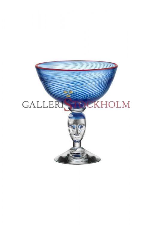 Bertil Vallien - Glaskonst – Red Rim pokal blå Beställ här! Klicka på bilden.