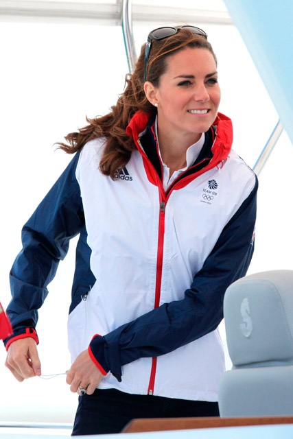 Kate watching the GB sailing team at the Olympics