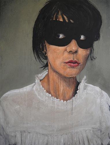 Fred Calmets - femme au masque -2010