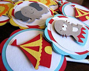 Toppers cupcake di circo circo compleanno di MyHeartnSoulBoutique