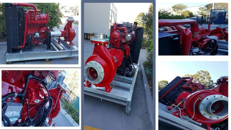 Diesel powered fire fighting pumps, Aline Pumps is a Leading Fire Fighting Pumps and Fire Protection Pumps Systems Manufacturer and Supplier in Australia, Located in Sydney and Brisbane.