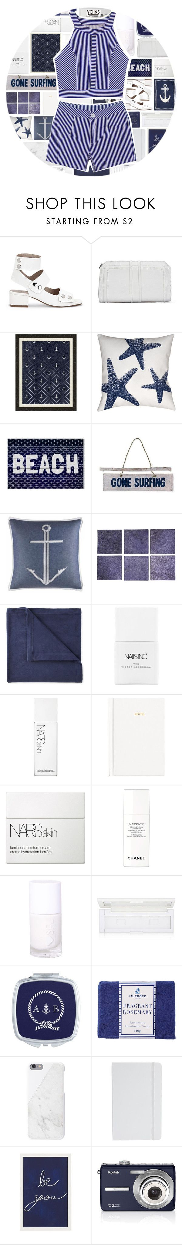 """YOINS"" by xgracieeee ❤ liked on Polyvore featuring Pottery Barn, Thumbprintz, NOVICA, Nautica, Undercover, JCPenney Home, Passport, Nails Inc., NARS Cosmetics and H&M"