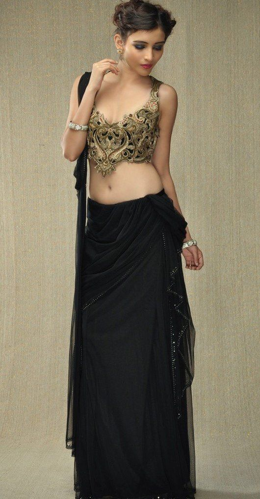 Black Saree with creativity #saree #sari #blouse #indian #outfit #shaadi #bridal #fashion #style #desi #designer #wedding #gorgeous #beautiful