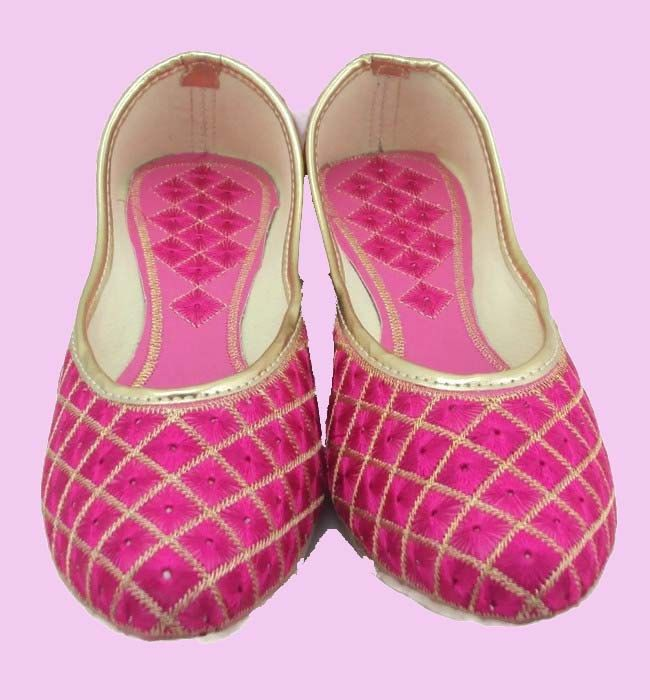 VALENTINES Gift Pink with Gold Embroidery Handmade Shoes Beautiful Party Wear Work Mojari Women Fashion Flats Khussa shoe by pinkcityhandmade on Etsy
