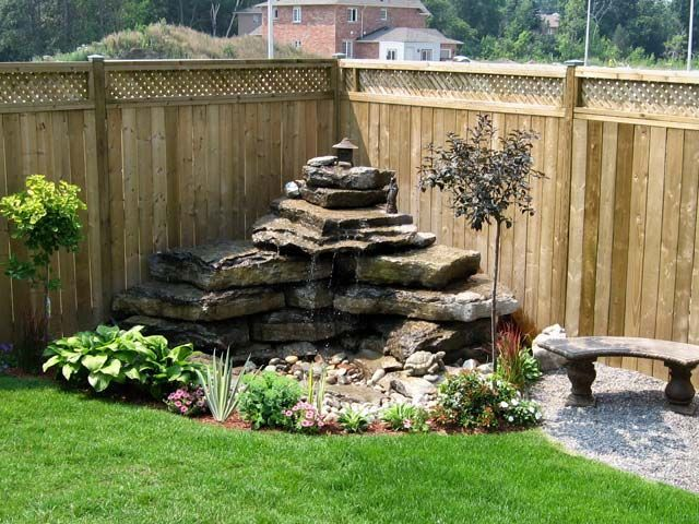 25 best ideas about backyard water feature on pinterest for Garden pond fountain design
