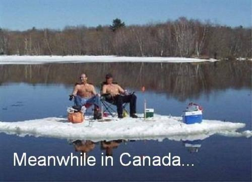 April !! Only in Canada Aye!!! A little humor for my son-in-law.  A true Canadian.