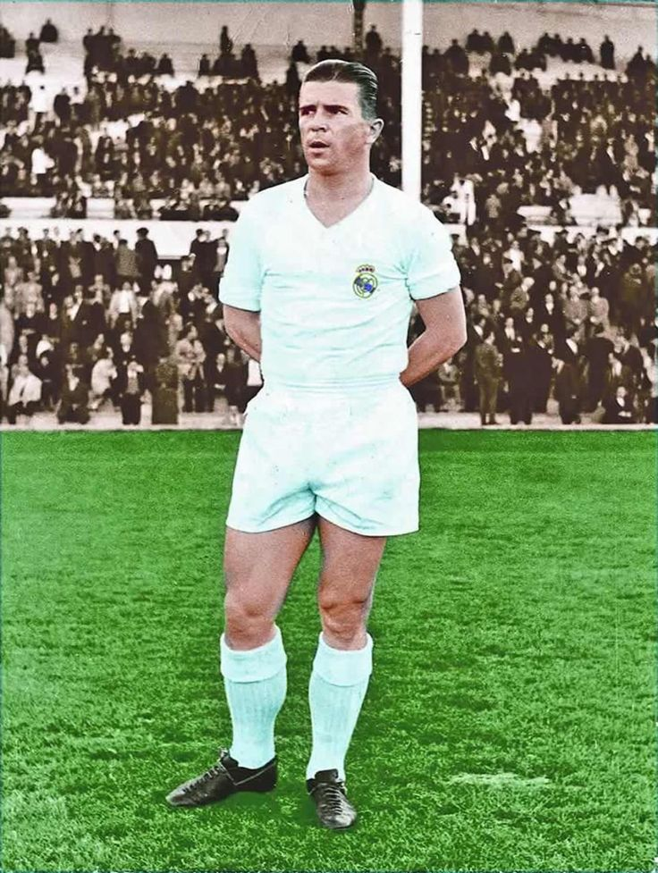 Ferenc Puskás (Hungarian born Ferenc Purczeld; 1 April 1927[3] – 17 November 2006) was a Hungarian footballer and manager, widely regarded as one of the greatest players of all time. A prolific forward, he scored 84 goals in 85 international matches for Hungary, and 514 goals in 529 matches in the Hungarian and Spanish leagues.