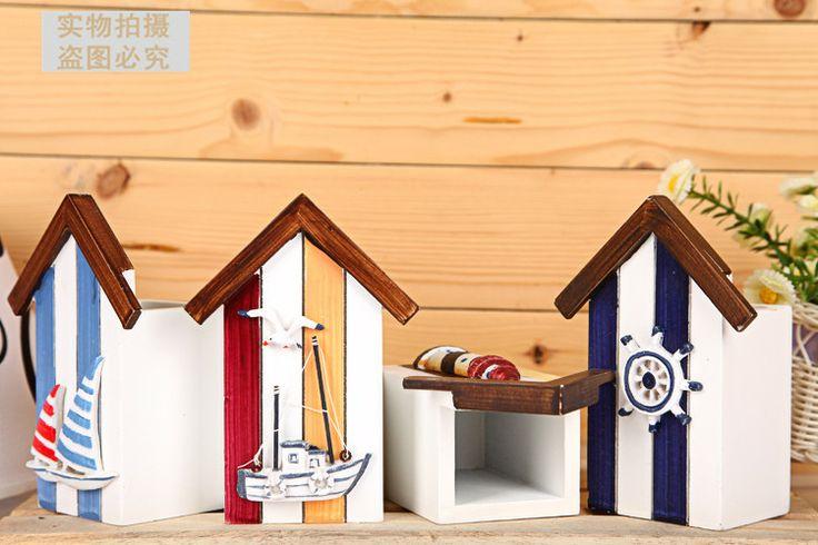 Новые морские стиле держатель ручки ручной работы деревянные корабли студенческие детям подарки современная мебель украшения - Taobao