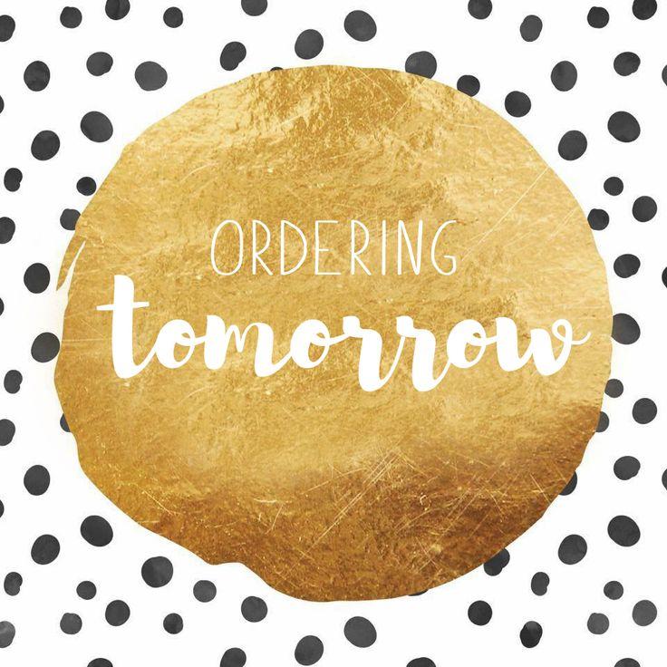 Ordering tomorrow