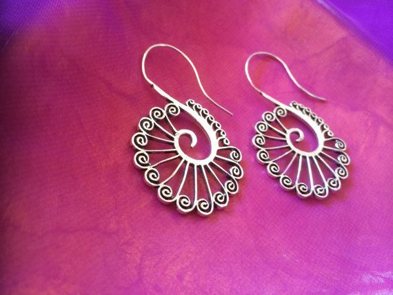 Peacock earrings by LunitaBoutique on Etsy