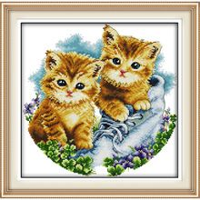 dog Be together Counted Cross Stitch DMC Cross Stitch Sets DIY 11CT 14CT Cross Stitch Kits Embroidery Needlework WR031(China (Mainland))