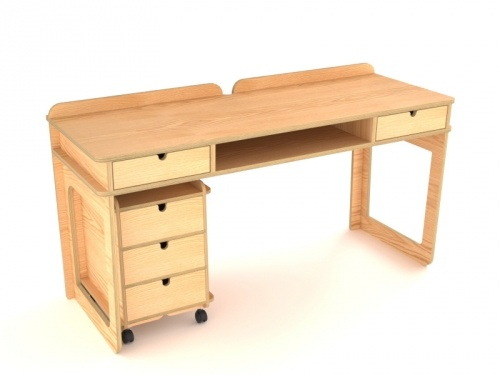 New Acco Desk and Drawers by Bold for L'EDITO. Choose your size and color online! http://www.ledito.com/bureau-acco-et-caisson.html From $1350