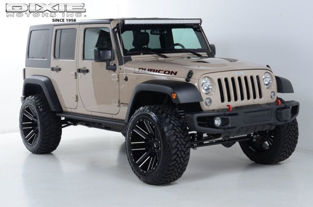 Image result for lifted jeep wrangler unlimited mojave sand