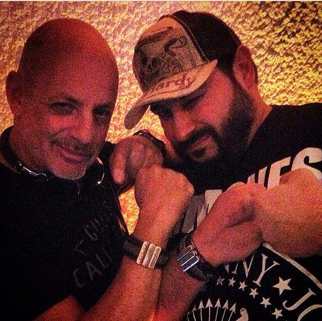 Dj Angel Cielo & Fabio Von Hardy wearing OCO Ibiza bracelets -  www.oco-ibiza.com  www.angelcielo.com
