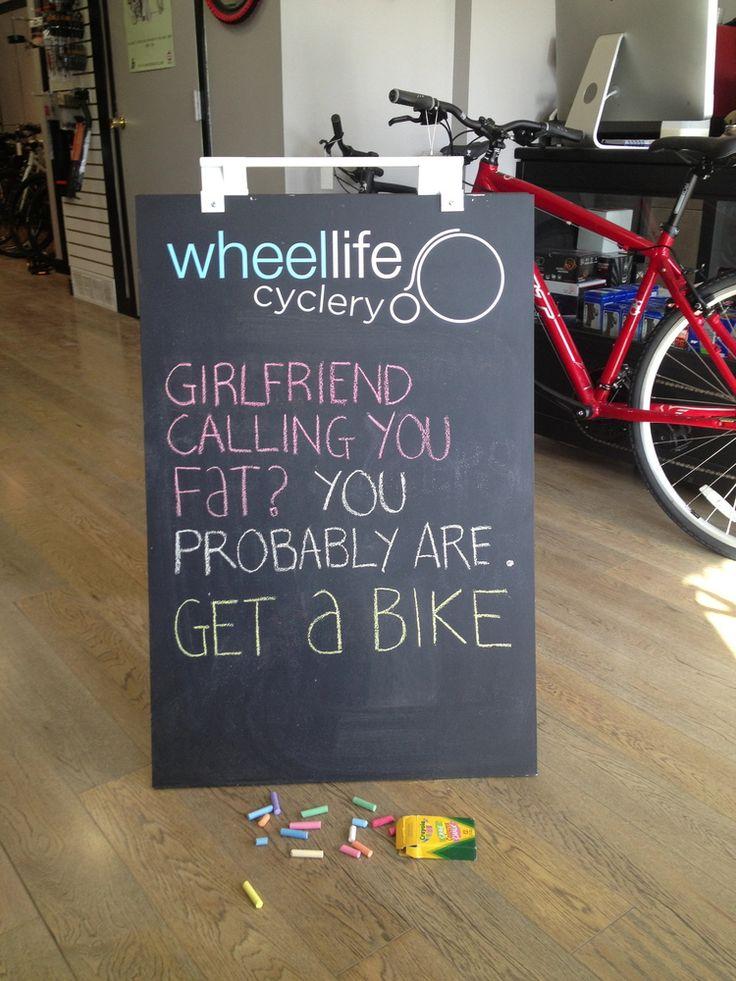 Great sandwich board from a friend's bike shop