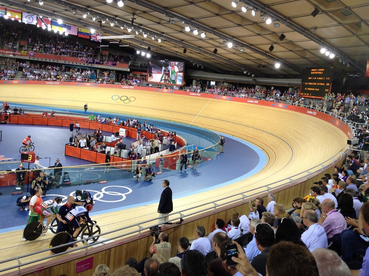 Jason Kenny of Team GB going for Gold on the Men's Sprints Finals at the Velodrome on Aug 6