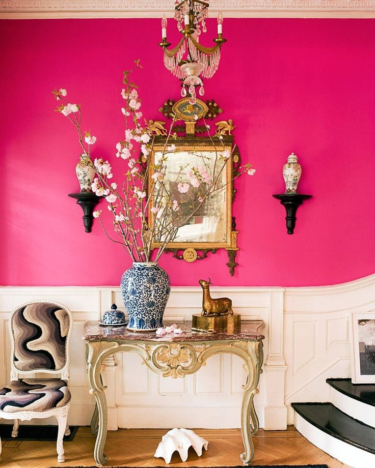 Heading out to buy hot pink paint right now.  #HBcolor #homedecor #instadesign (Photo by @francescolagnese, design by Jonathan Berger)