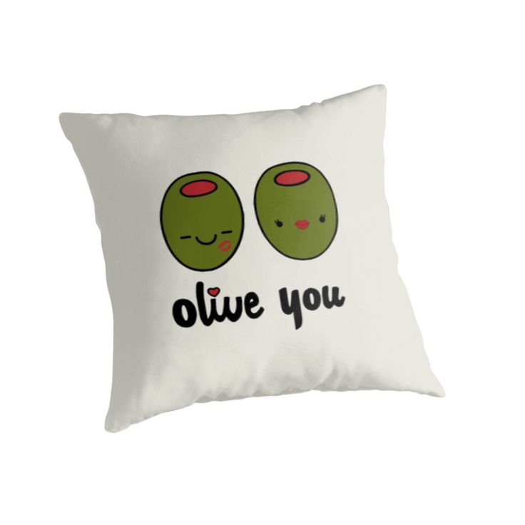 Cute Love Pillows : Olive You Throw Pillow Valentines, Valentine gifts and Funny love