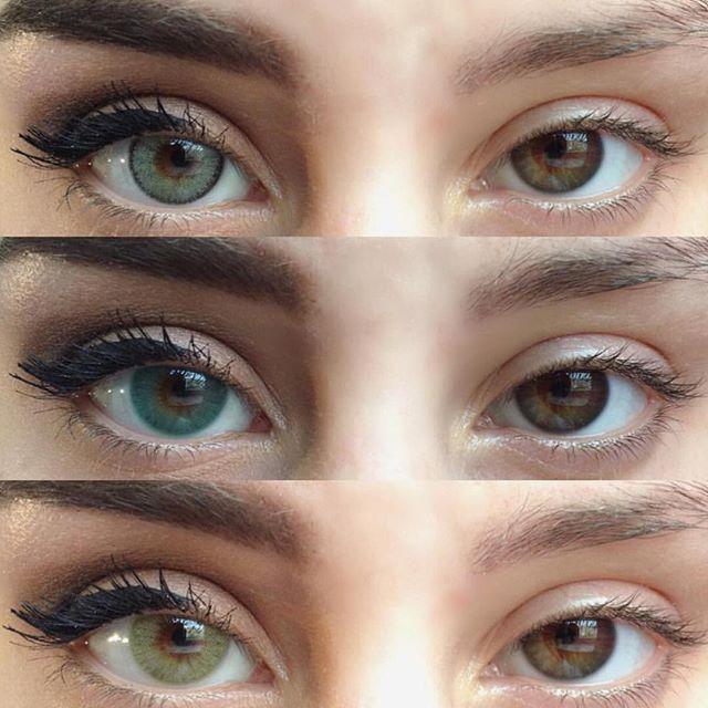 Dark Green Eye Contacts (from top down) 1/Natu...