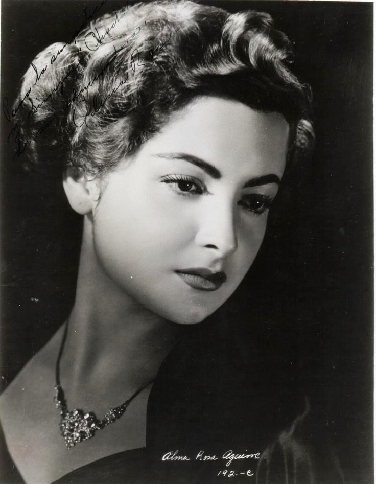 Alma Rosa Aguirre (Ciudad Juárez, México, 19 de febrero de 1929) es una actriz del cine mexicano que, junto con su hermana Elsa Aguirre, llenaron las pantallas de un cine que estaba en su esplendor, conocida como La Época de Oro del Cine Mexicano.