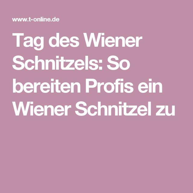 Tag des Wiener Schnitzels: So bereiten Profis ein Wiener Schnitzel zu