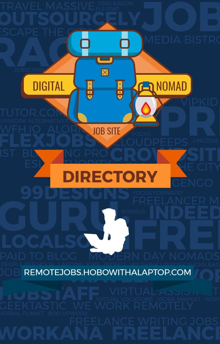 We compiled this list of 80+ nomad job portal sites to help existing digital nomads get by, and aspiring nomads to find their footing. If there's any that we missed or you'd like to share your experiences with any of the sites listed below, we'd love to hear from you in the comments. READ MORE: hobowithalaptop.com