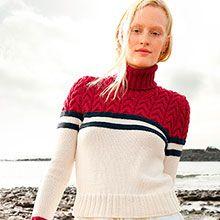 Pullover mit Zopfmuster aus ggh Volante