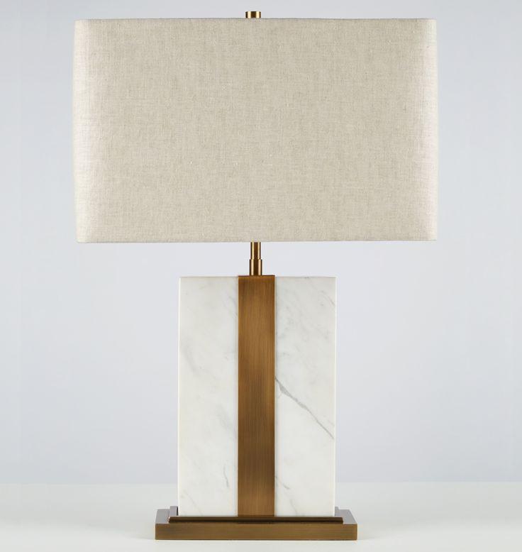 Rejuvenation marble brass table lamp