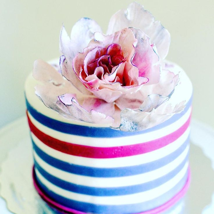 Happy Sunday Everyone! How do you celebrate a 'sweet 15' birthday? Like this :) 💜💕 #girlbirthday #birthdaycake  #cakestagram #flowerstagram #sugarflowers #customcake @magic_colours_inside @satin.ice #klaptish #gargeran