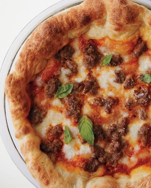 Deep-Dish Meatball Pizza