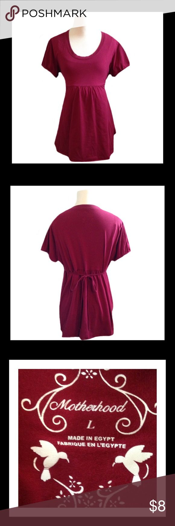 MOTHERHOOD MATERNITY Short Sleeve Top Gently used MOTHERHOOD MATERNITY short sleeve top;     Size LARGE                                     ✅BUNDLE AND SAVE Motherhood Maternity Tops Tees - Short Sleeve
