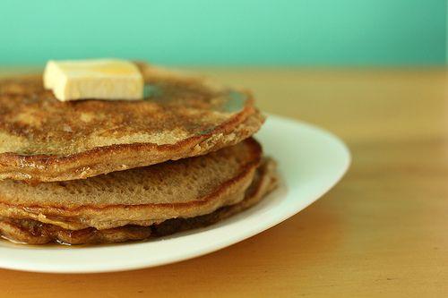 Hotcakes tradicionales.: Mantequilla con azúcar