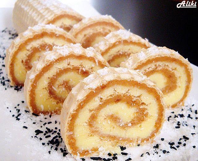 Mamina jela: Karamel - kokos rolat u oblatni