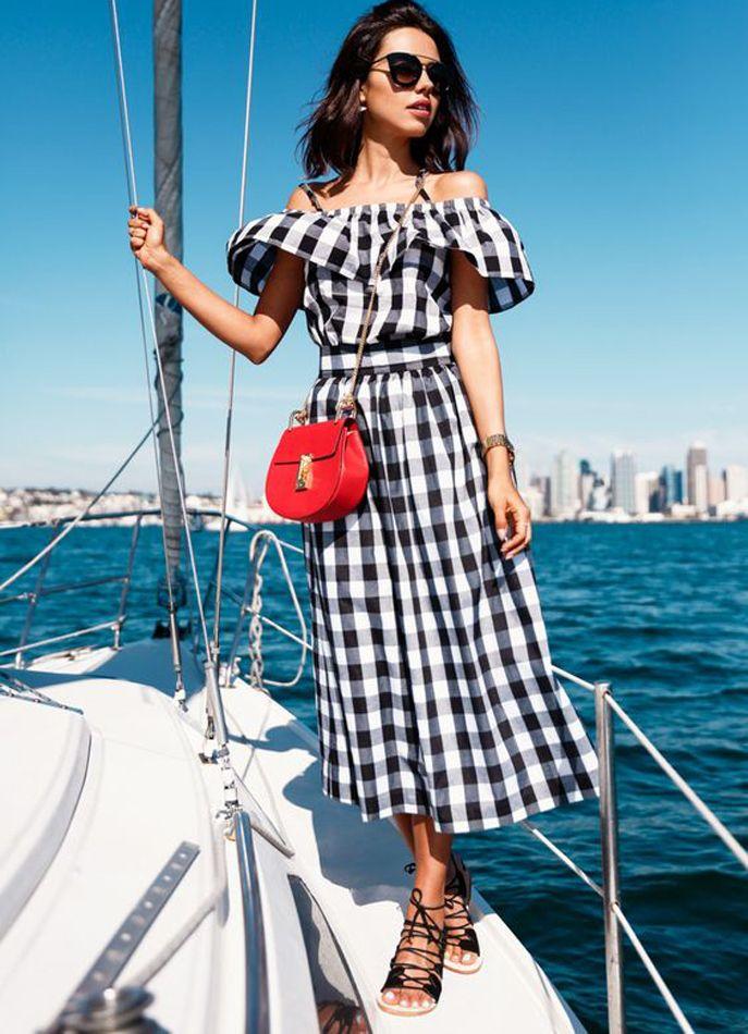 Resultado de imagem para summer fashion street style 2017 vichy sea