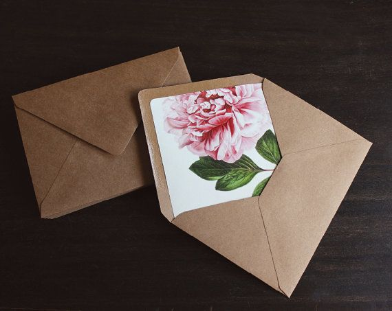Kraft Paper Wedding Invitation With White Printing