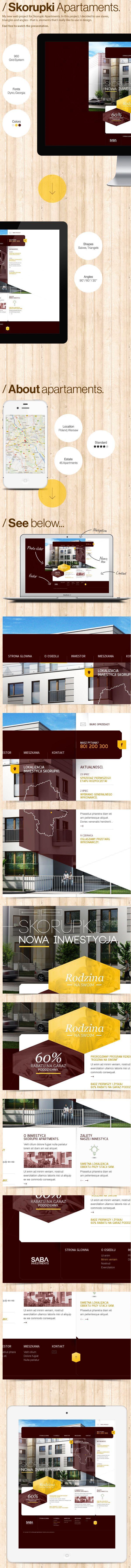 Exclusive Apartments by Adam Rudzki, via Behance