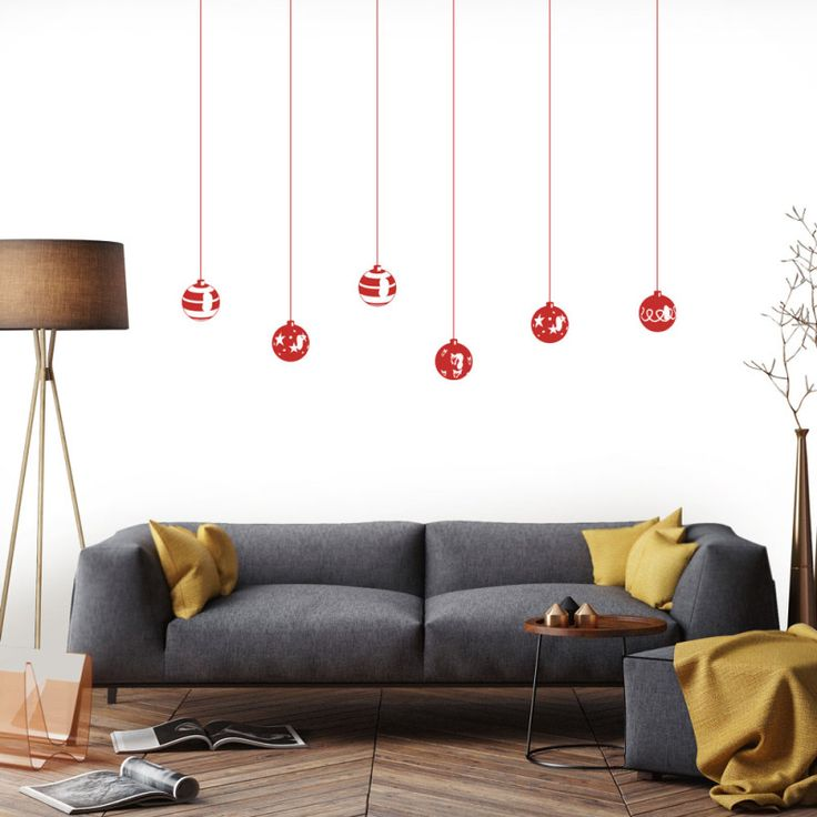 Christmas balls wall decal | hardtofind.