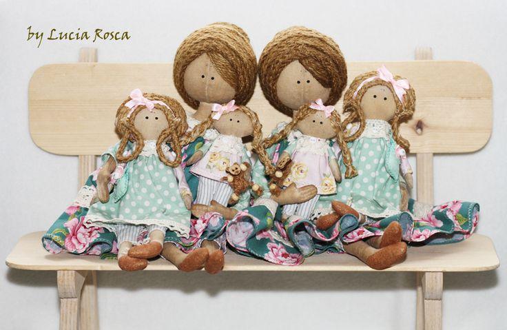 Cloth Dolls by Lucia Rosca
