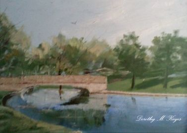 Original oil painting by my mom of my the green of our home town. I finally got her work made into cards. My tribute to her. RIP mom. You r work lives on.