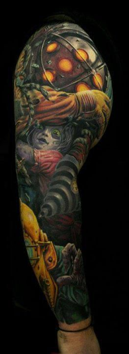 17 best images about tattoos on pinterest bioshock for Bioshock wrist tattoo