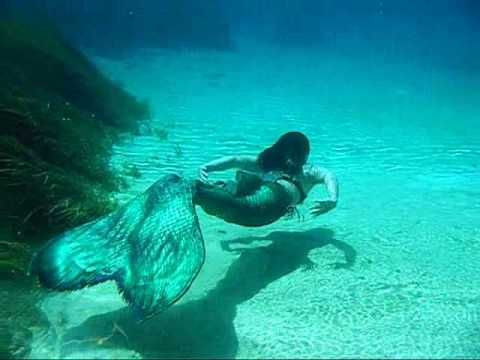 MerBella Mermaids at Rainbow River LOVE the flow of their tails!