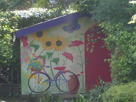 Exterior painted murals murals exterior mural for Exterior mural paint