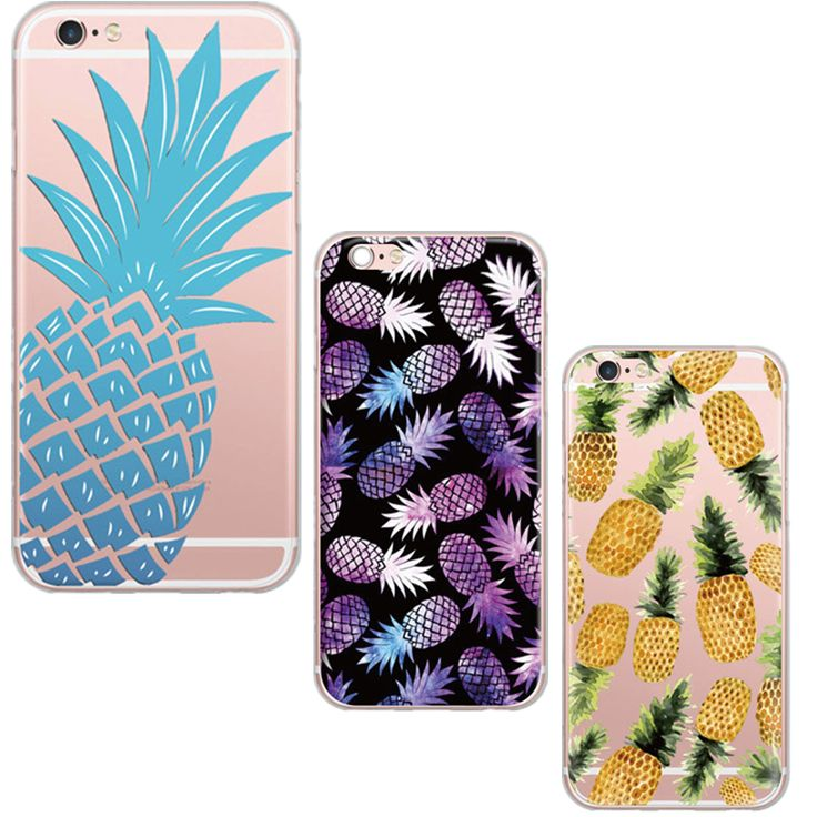 Fashion Fruit Pineapple Transparent Case Cover Soft TPU Clear Phone Case For Apple iphone 5 5s 6 6s Fashion Housings Capa Coque